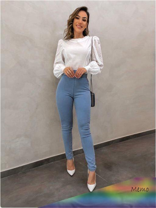 Outfit with jeans at the waist to work