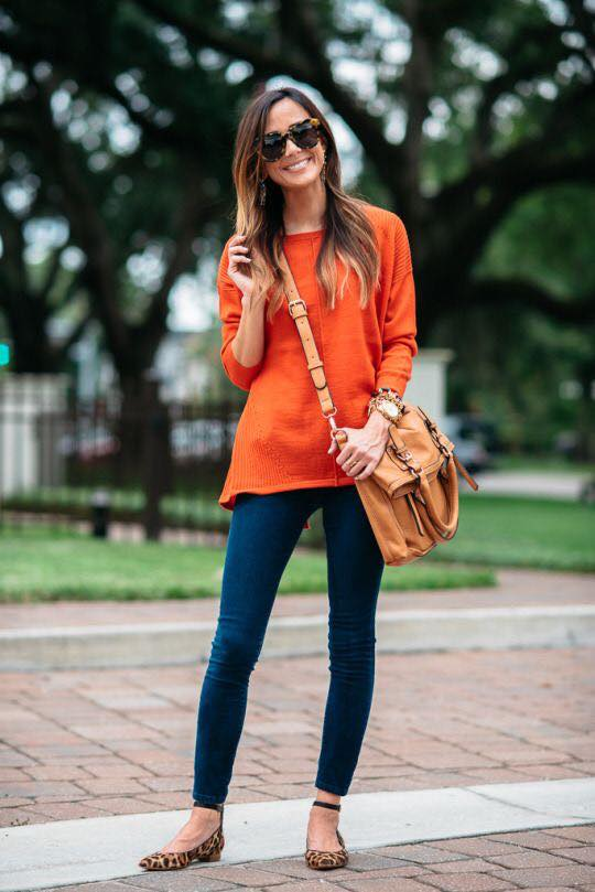 Blouse for fall with leggings