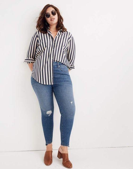 Wear high-cut jeans