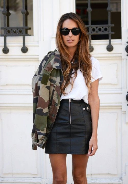 Outfits with camo jacket