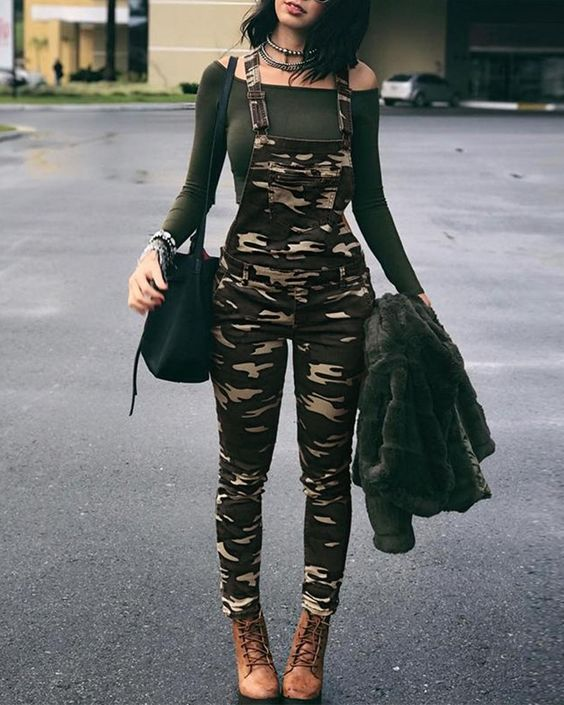 Military Style Overalls for Women 40's