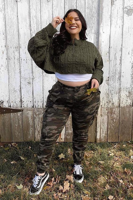 Camo outfits for plus size girls