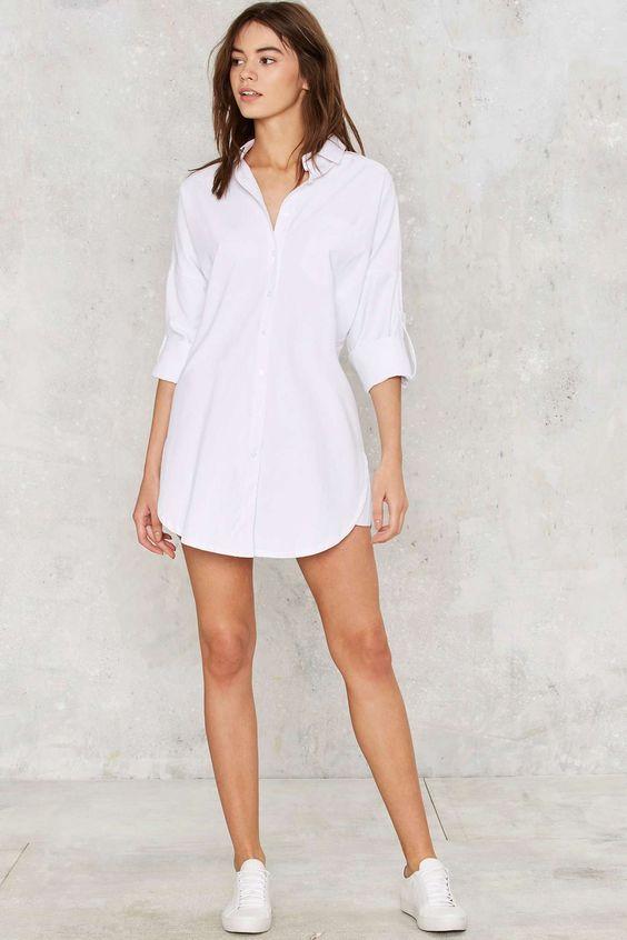 White shirts as dress