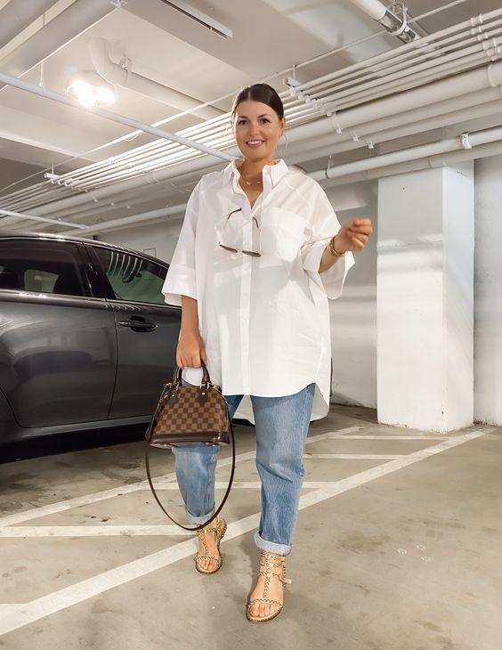 Oversized white shirts