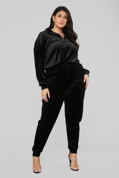 Black jumpsuits for curvy girls