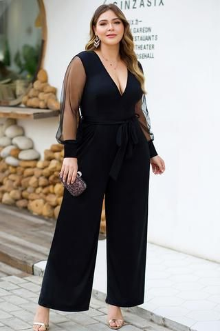 Party outfits in black plus size