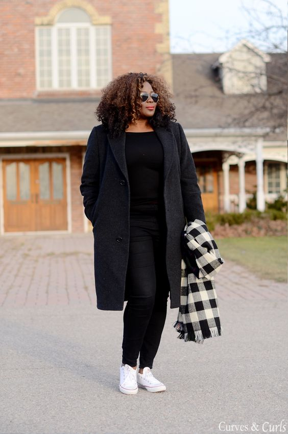 Looks in black for plus size work