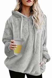 Tuopuda - Oversized sweatshirt with hood and pockets