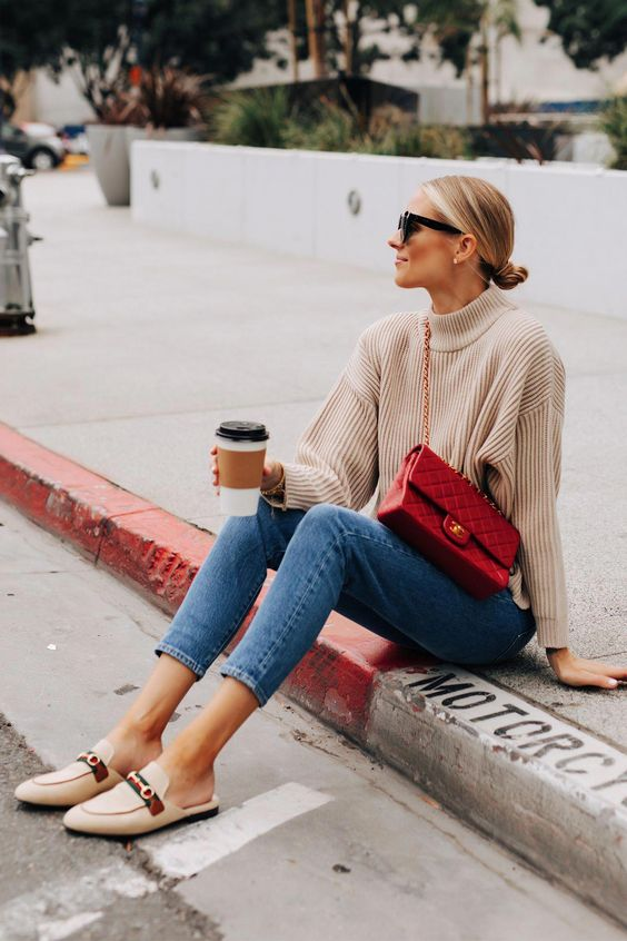 Outfits with comfortable and sophisticated denim jeans