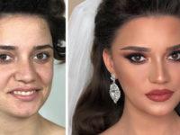 11 foto scattate prima e dopo il trucco da sposa