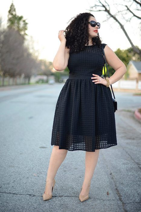 Black party dresses for plus size girls