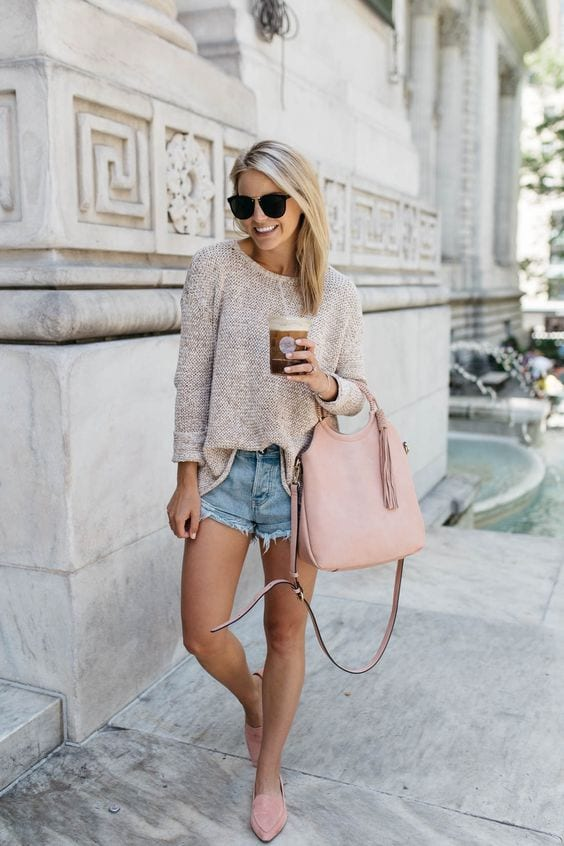 Outfits with denim shorts for the weekend