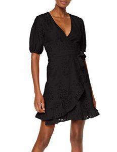 Amazon Find - Wrap mini dress, black