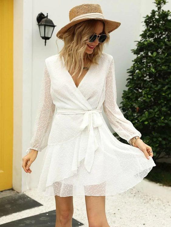 Looks with wrap dress shein