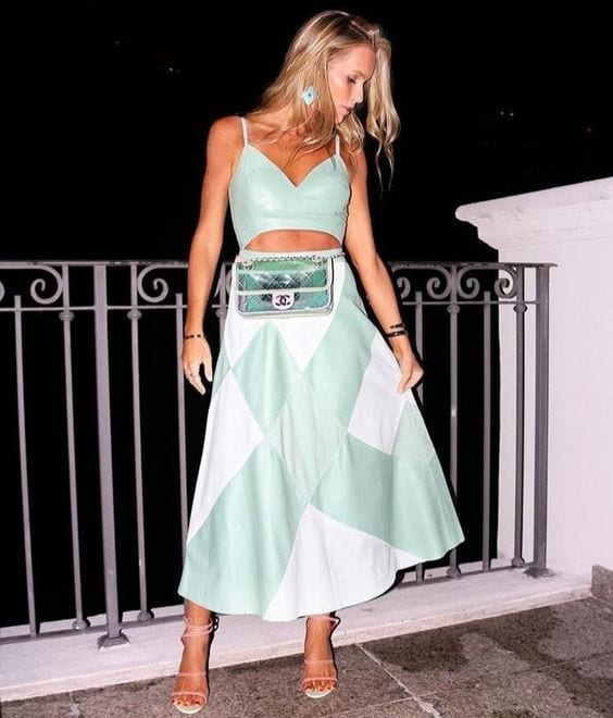 Mint color outfits spring - summer