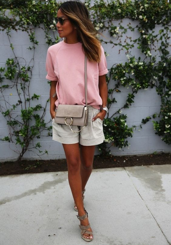 Pastel pink looks for spring