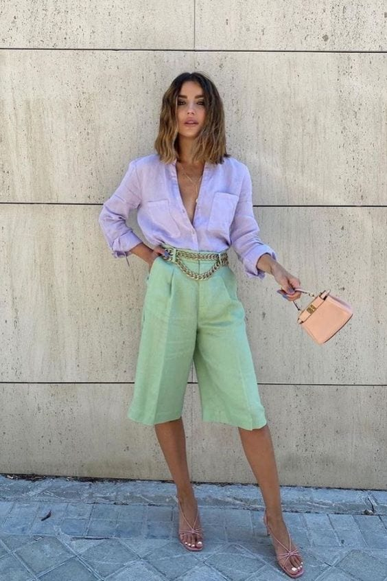 How to combine pastel garments