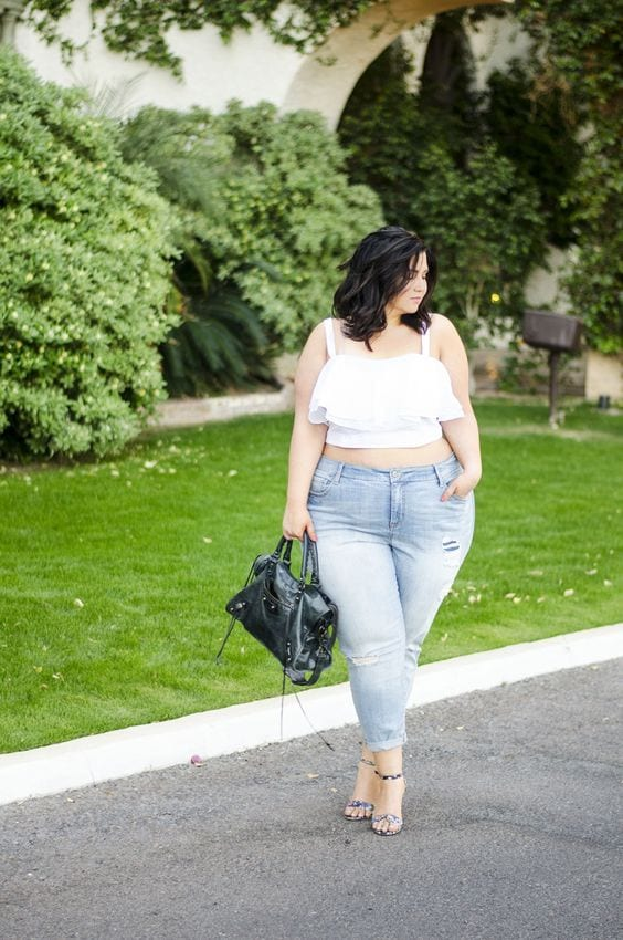 Combine crop tops with high-waisted jeans