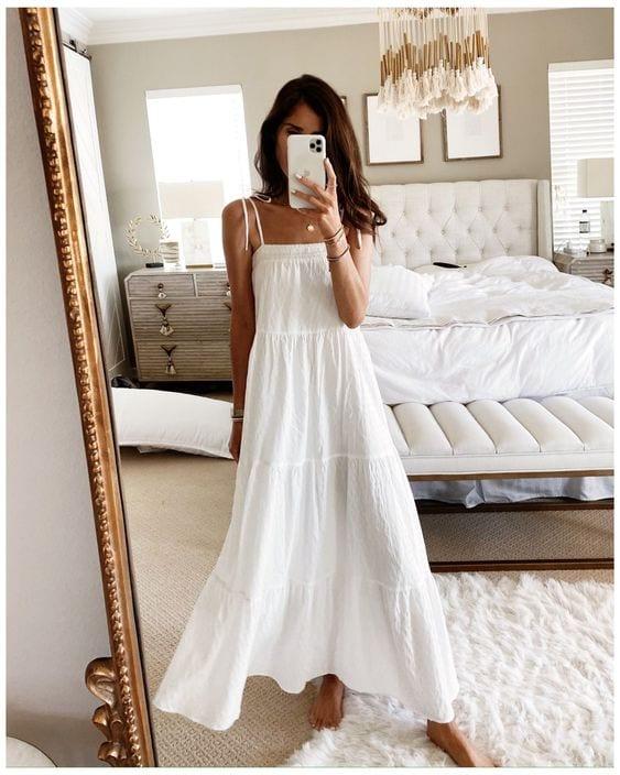 White dress designs spring - summer