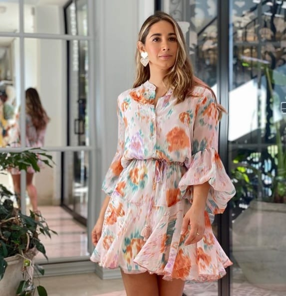 Floral print dresses for mature women