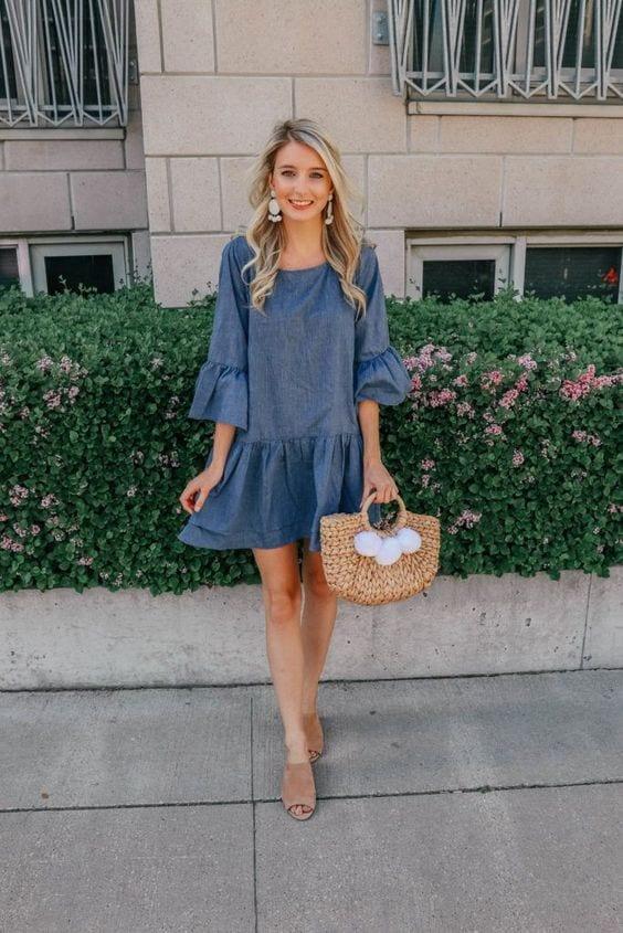 Denim dresses for women over 40