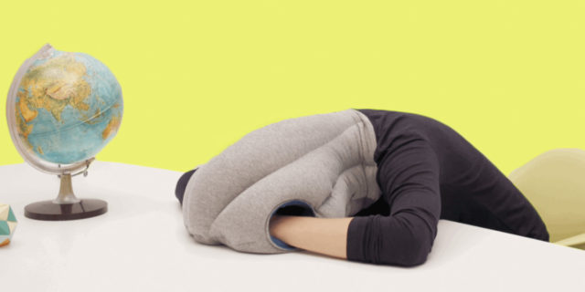 Ostrichpillow, with these pillows you can sleep wherever you are
