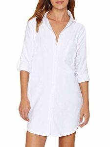 Auxo - White oversize long shirt