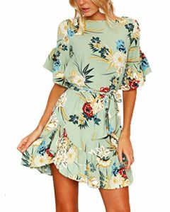 YOINS Woman Floral Short Sleeve Dress