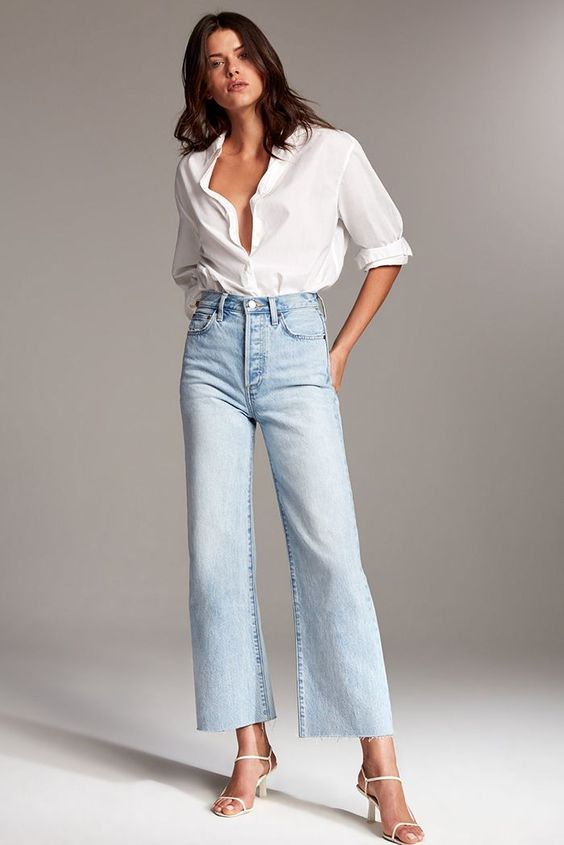 Looks with straight jeans