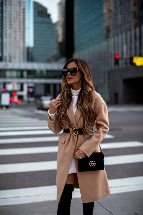 Wear belts over coats