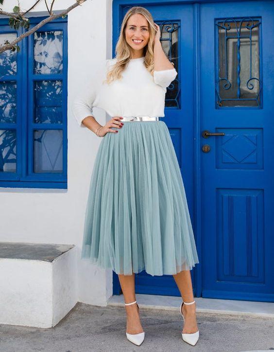 Wear flared skirts
