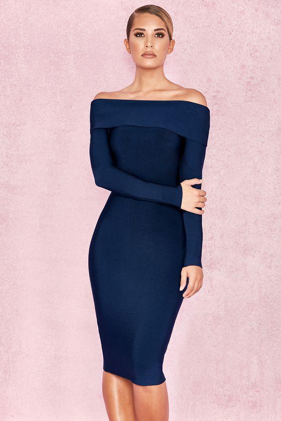 Dresses with bardot neckline