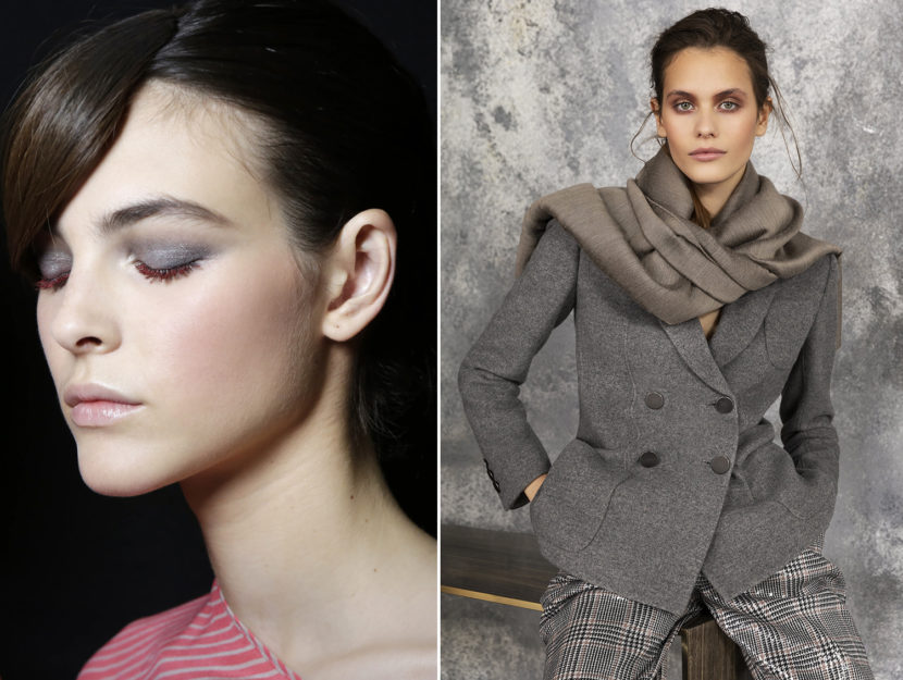 put on make-up with jacket and pants
