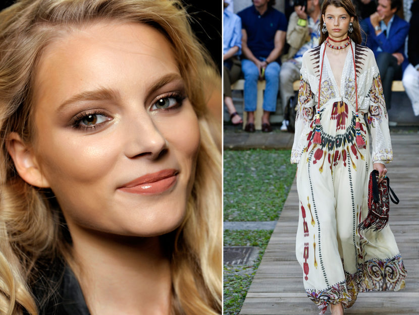 how to wear make-up with the ethnic-folk style