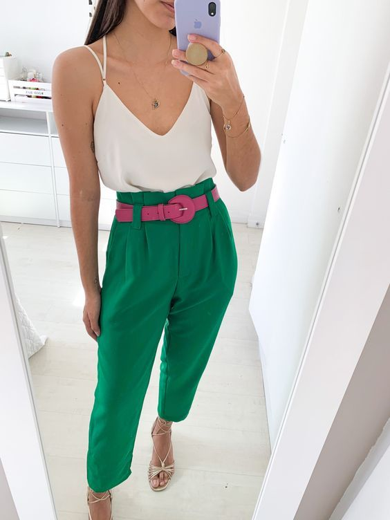 Troussers pants in spring - summer 2021 colors