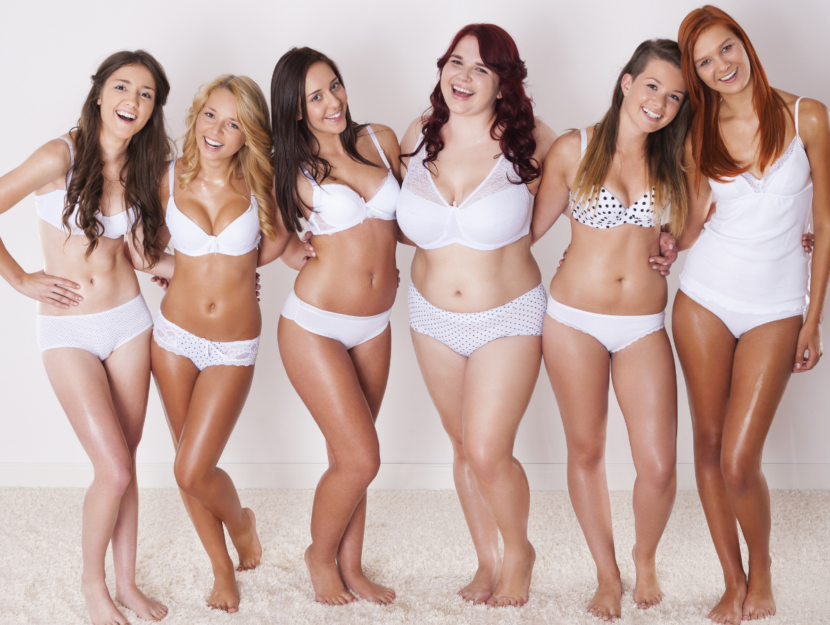 girls with different body shapes