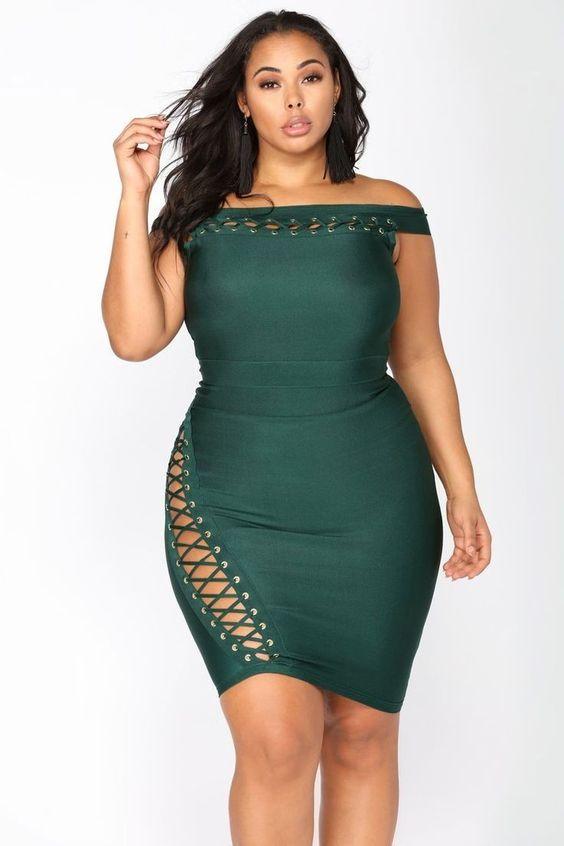 Dress in bandage style dresses