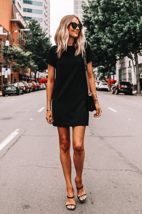 Looks with short black dress