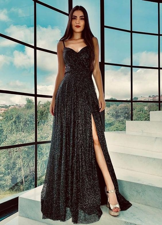Looks with long black dress