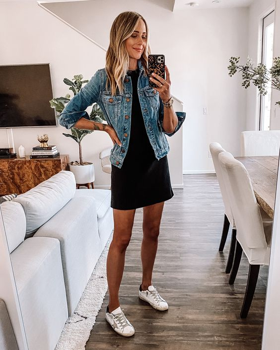 Outfits with casual black dress