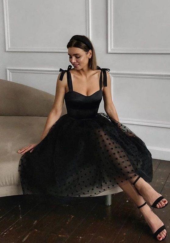 Look ideas with elegant black dress