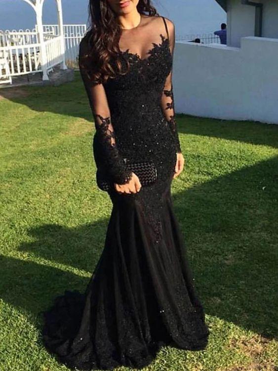 Black Lace Dress for Women 40