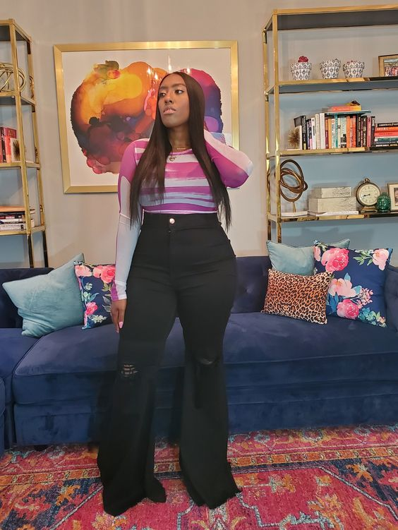 Looks with black jeans for plus size women