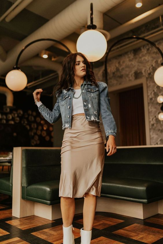 Outfit ideas with satin skirts