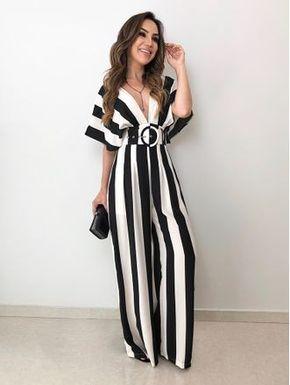 Dress in vertical lines