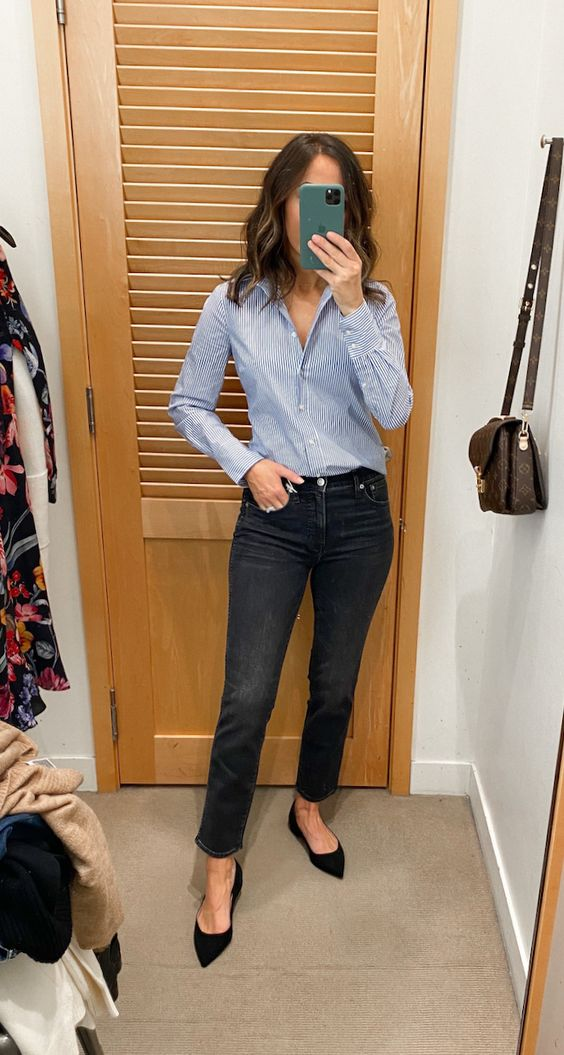 15 elegant outfits with jeans to go to work