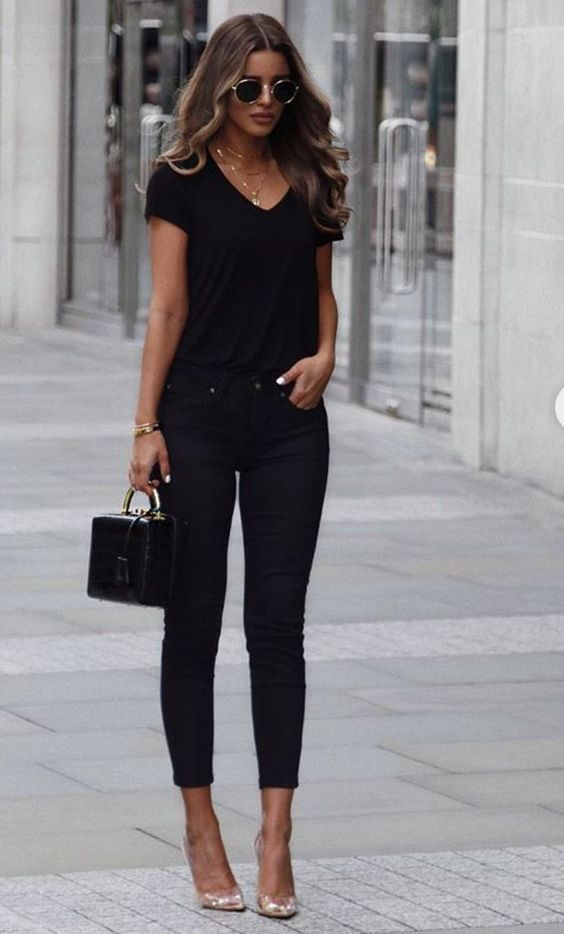 Opt for dark jeans