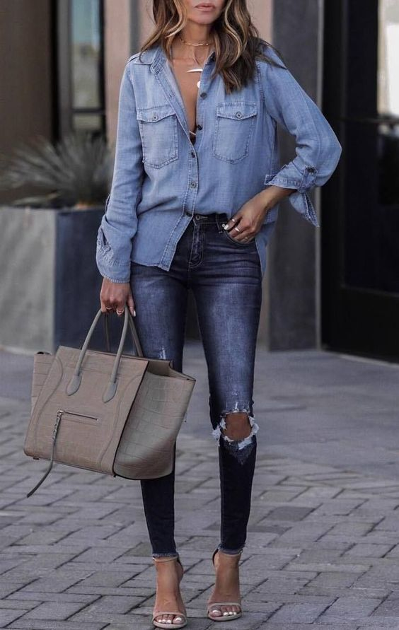 Combine shirts with jeans