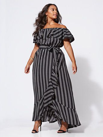 Maxi dresses for chubby ladies