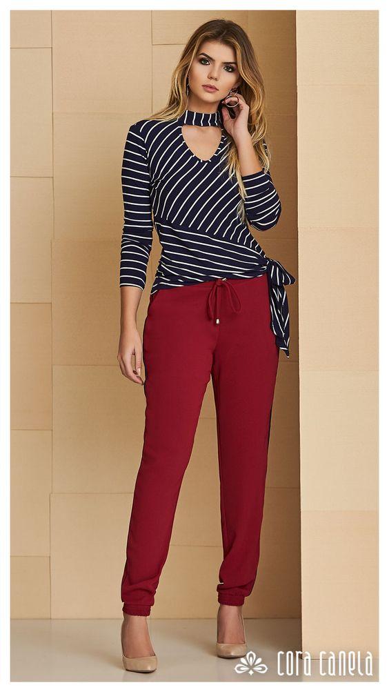 Pants for mature women shein